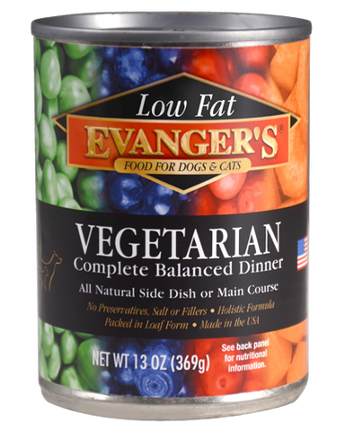 Evangers Low Fat Super Premium All Fresh Vegetarian Dinner Canine and Feline Canned Food