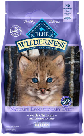 Blue Buffalo Wilderness Grain Free Chicken High Protein Recipe Dry Kitten Food