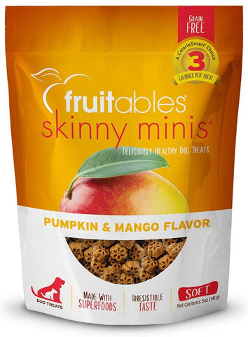 Fruitables Chewy Skinny Minis Pumpkin Mango Flavor Dog Treats