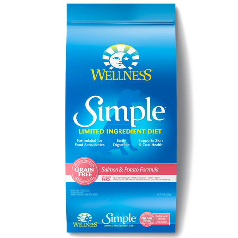 Wellness Simple Grain Free Natural Limited Ingredient Diet Salmon and Potato Recipe Dry Dog Food