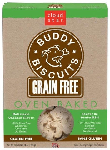 Cloud Star Buddy Biscuits Grain Free Oven Baked Roasted Chicken Dog Treats
