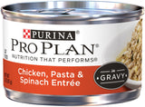 Purina Pro Plan Savor Adult Chicken, Pasta & Spinach Entree in Gravy Canned Cat Food