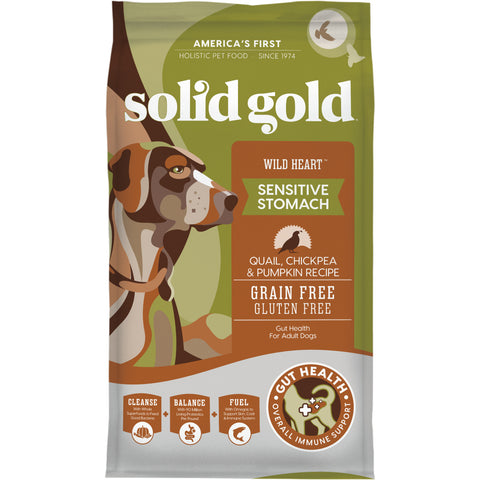 Solid Gold Wild Heart Adult Quail, Chickpeas and Pumpkin Recipe Dry Dog Food