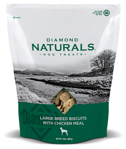 Diamond Naturals Large Breed Biscuits with Chicken Meal Dog Treats