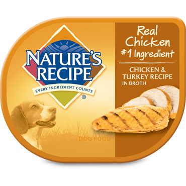 Nature's Recipe Chicken and Turkey in Broth Wet Dog Food