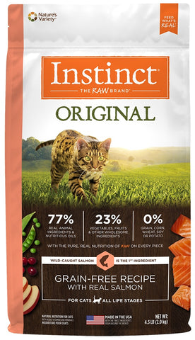 Nature's Variety Instinct Original Grain Free Recipe with Real Salmon Natural Dry Cat Food