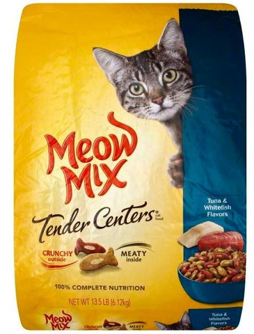 Meow Mix Tender Centers Tuna and Whitefish Flavors Dry Cat Food
