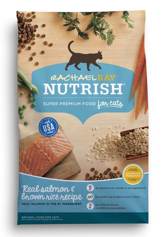 Rachael Ray Nutrish Natural Salmon & Brown Rice Recipe Dry Cat Food