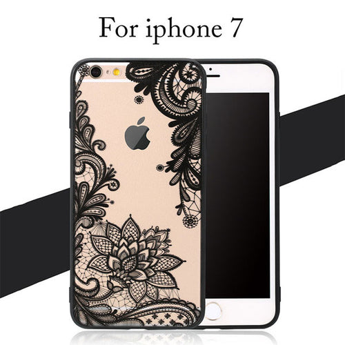 Retro Sexy Lace Flower Case For iphone 7 6 6s Plus 5 5s - Mall4all