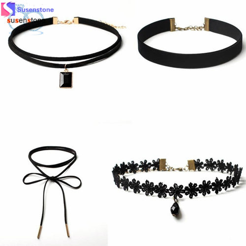 4 Pieces Necklace Choker Set - Mall4all