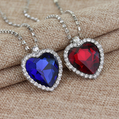 Crystal Heart Necklace - Mall4all