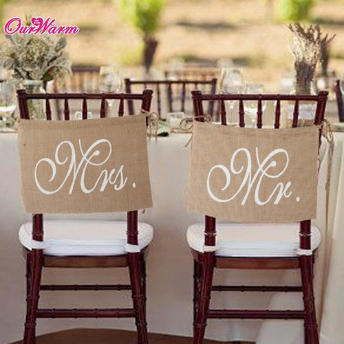 Rustic Mr and Mrs Chair Sign - Mall4all