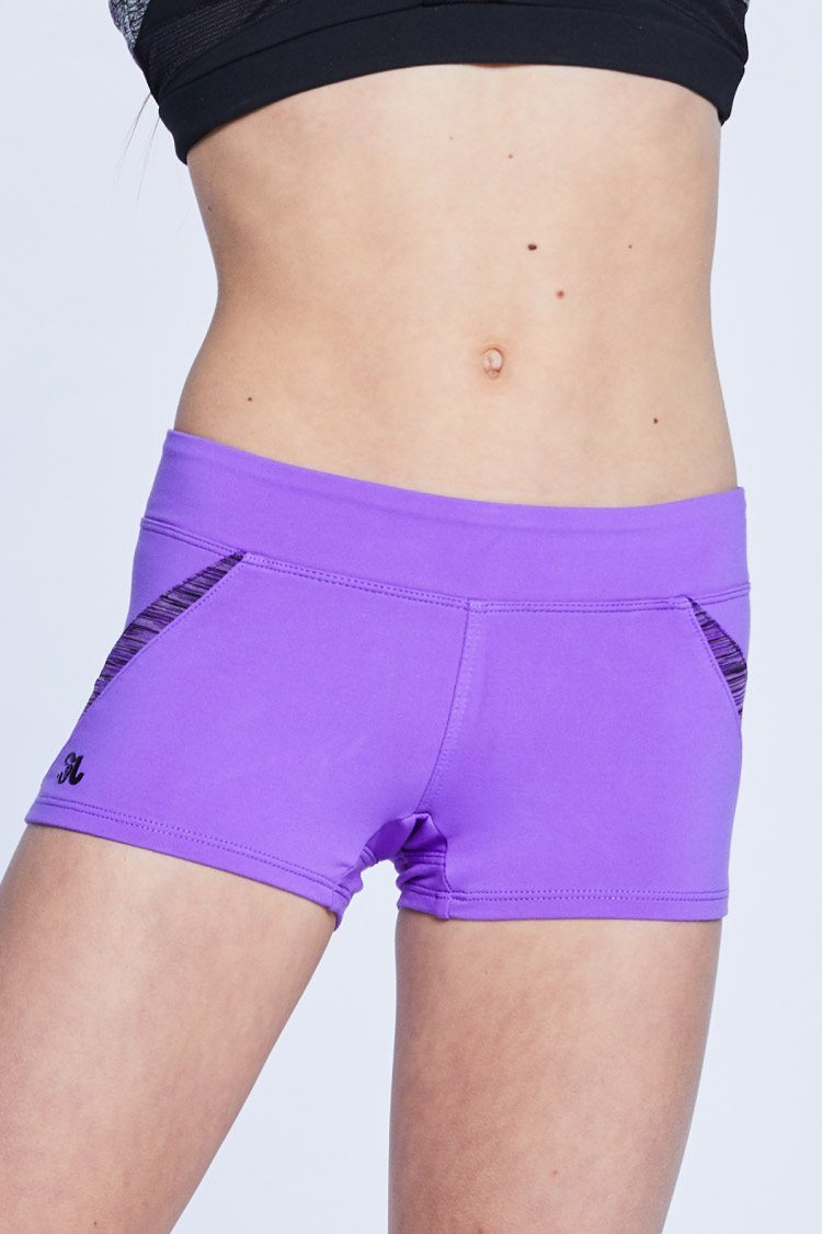 Astro Shorts Fitted Wear - Bottoms - Shorts Jo+Jax Purple/Purple Space Dye Youth Large