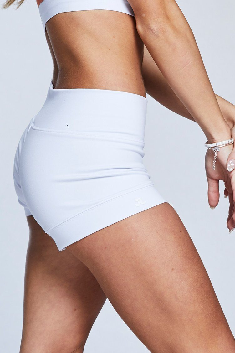 Bandit Shorts Fitted Wear - Bottoms - Shorts Jo+Jax White X-Small Adult