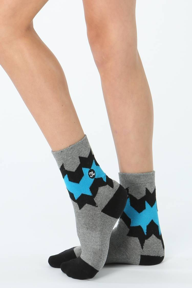 Chevy Sock Jo+Jax Gray Heather/Turquoise Youth