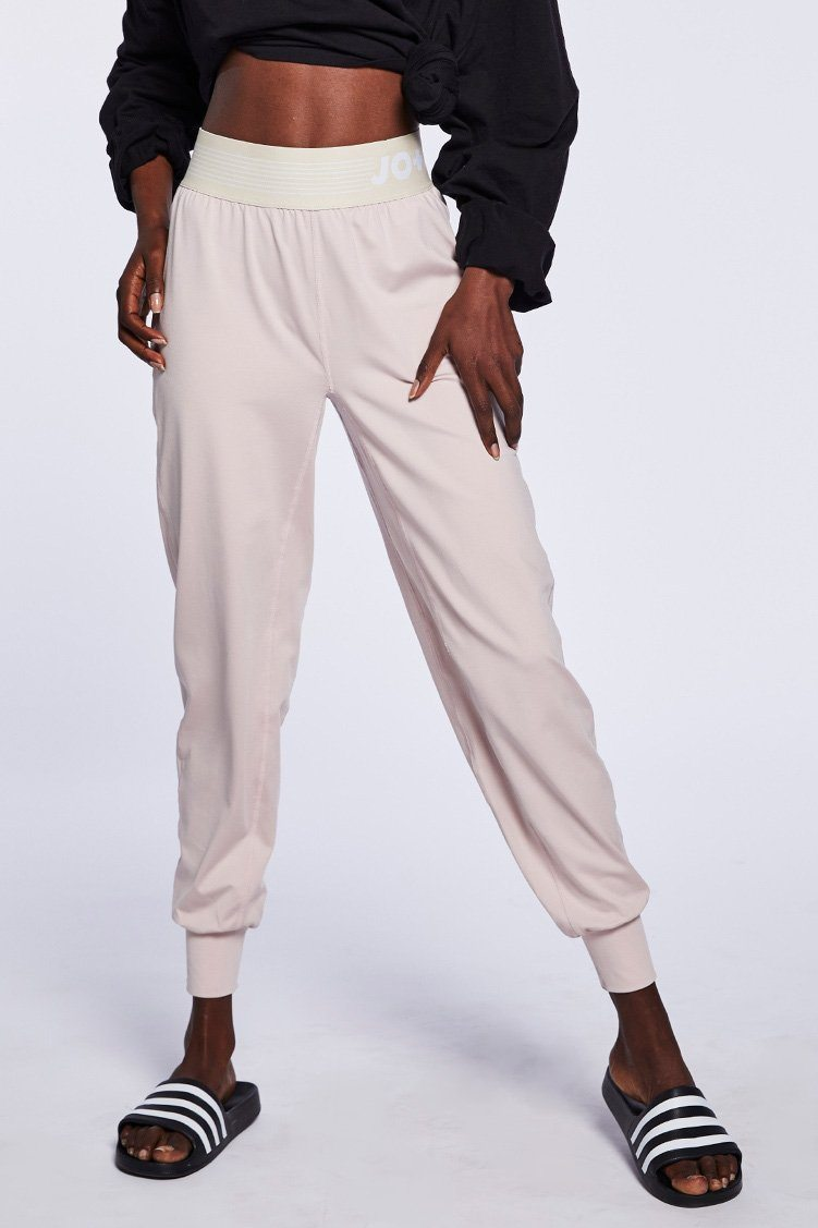 City Joggers To & From - Bottoms - Pants Jo+Jax Pink Sand/Cream Youth Small