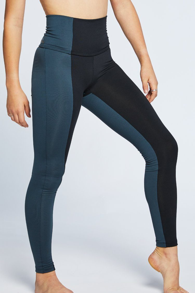 Combo Leggings Fitted Wear - Bottoms - Leggings Jo+Jax Black/Charcoal X-Small Adult