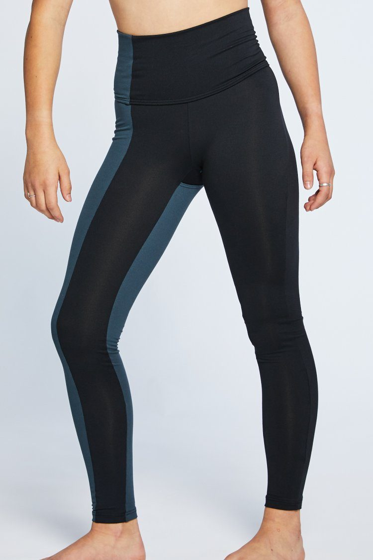 Combo Leggings Fitted Wear - Bottoms - Leggings Jo+Jax Black/Charcoal Youth Large