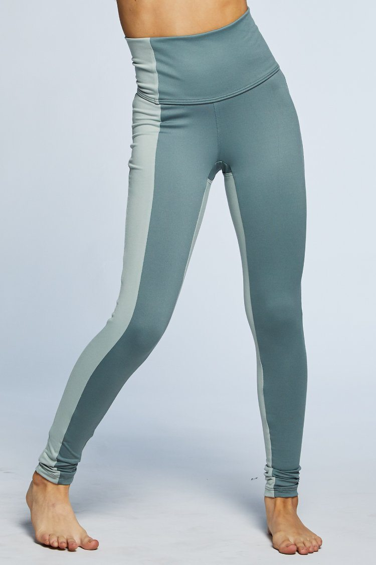 Combo Leggings Fitted Wear - Bottoms - Leggings Jo+Jax Mid Gray/Fog Large Adult