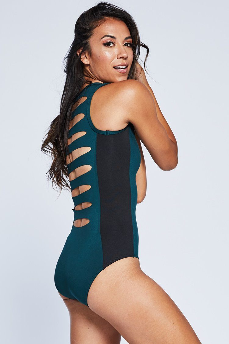 Combo Leo Fitted Wear - One Pieces - Leotards Jo+Jax Jungle/Black X-Small Adult