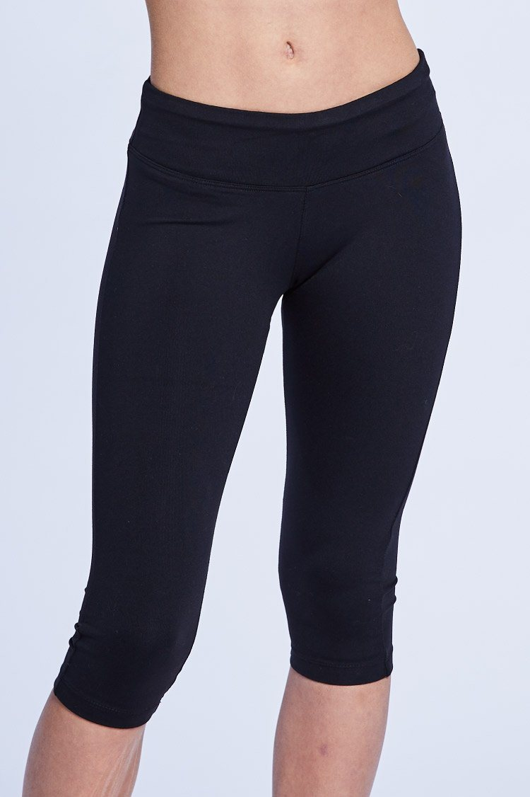 Cropped Legging Fitted Wear - Bottoms - Cropped Jo+Jax Black XX-Small Adult