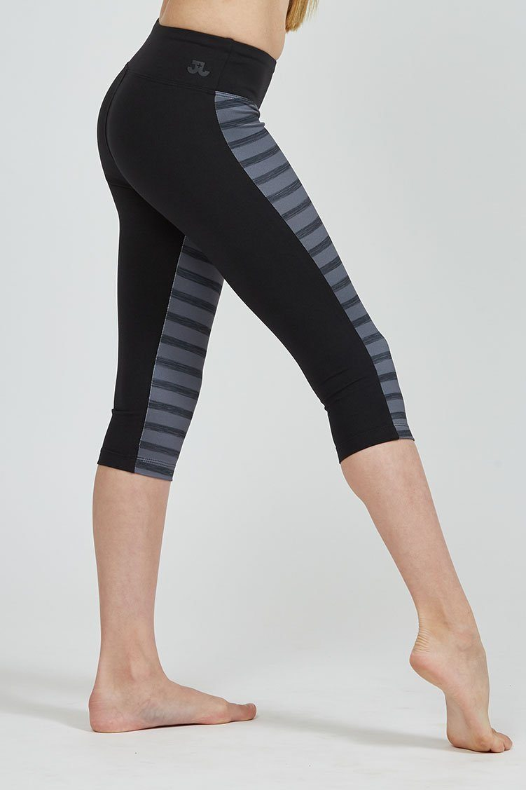 Cropped Legging Fitted Wear - Bottoms - Cropped Jo+Jax Storm/Black Youth Small
