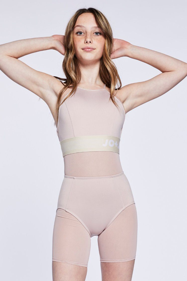 Fame Biker Uni Fitted Wear - One Pieces - Unitards Jo+Jax Pink Sand Youth Small