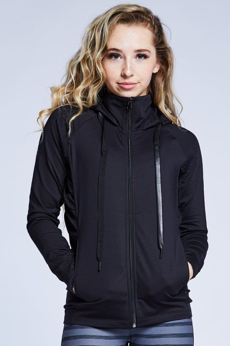 Fiora Jacket Warm-ups - Tops - Jackets Jo+Jax Black X-Small Adult