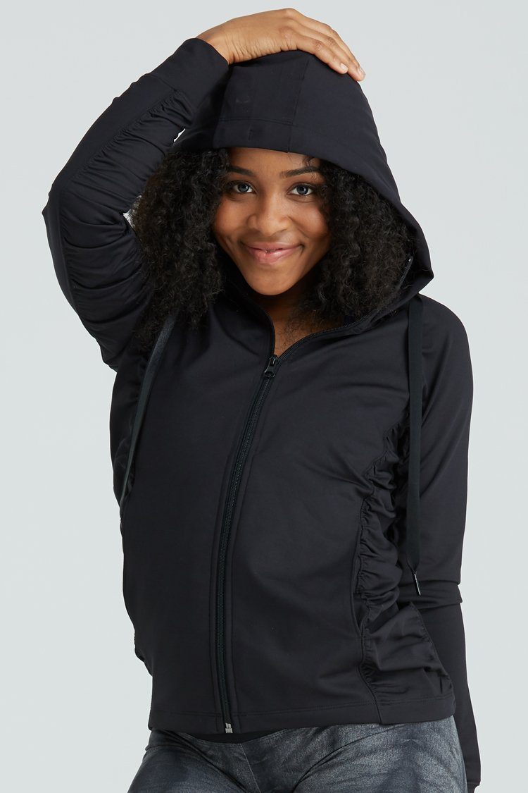 Fiora Jacket Warm-ups - Tops - Jackets Jo+Jax Black Youth Large