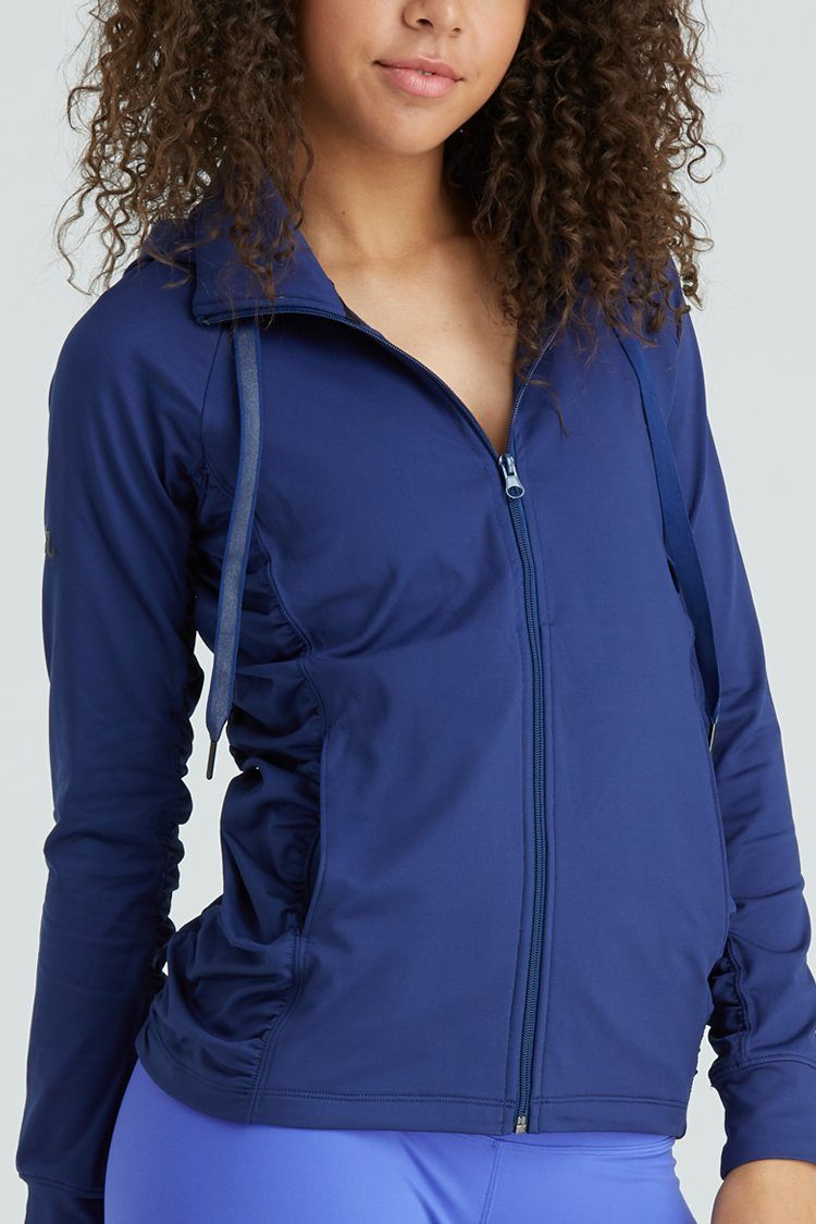 Fiora Jacket Warm-ups - Tops - Jackets Jo+Jax Navy Youth Large