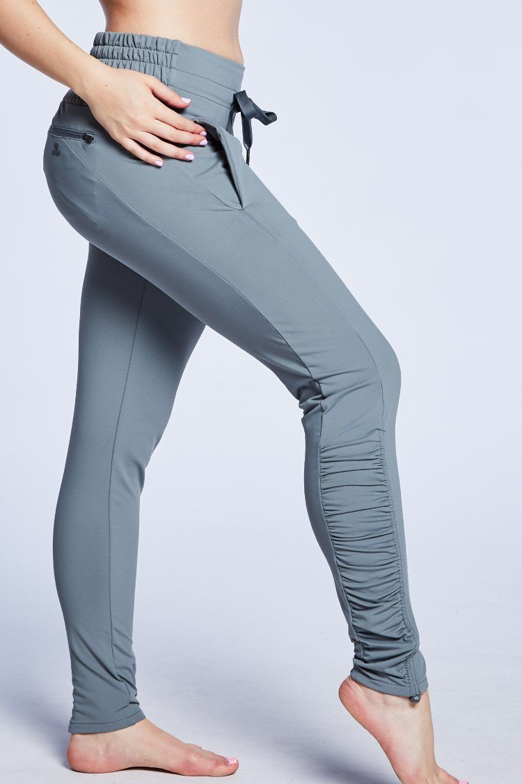 Fiora Pant Warm-ups - Bottoms - Pants Jo+Jax Light Gray Large Adult