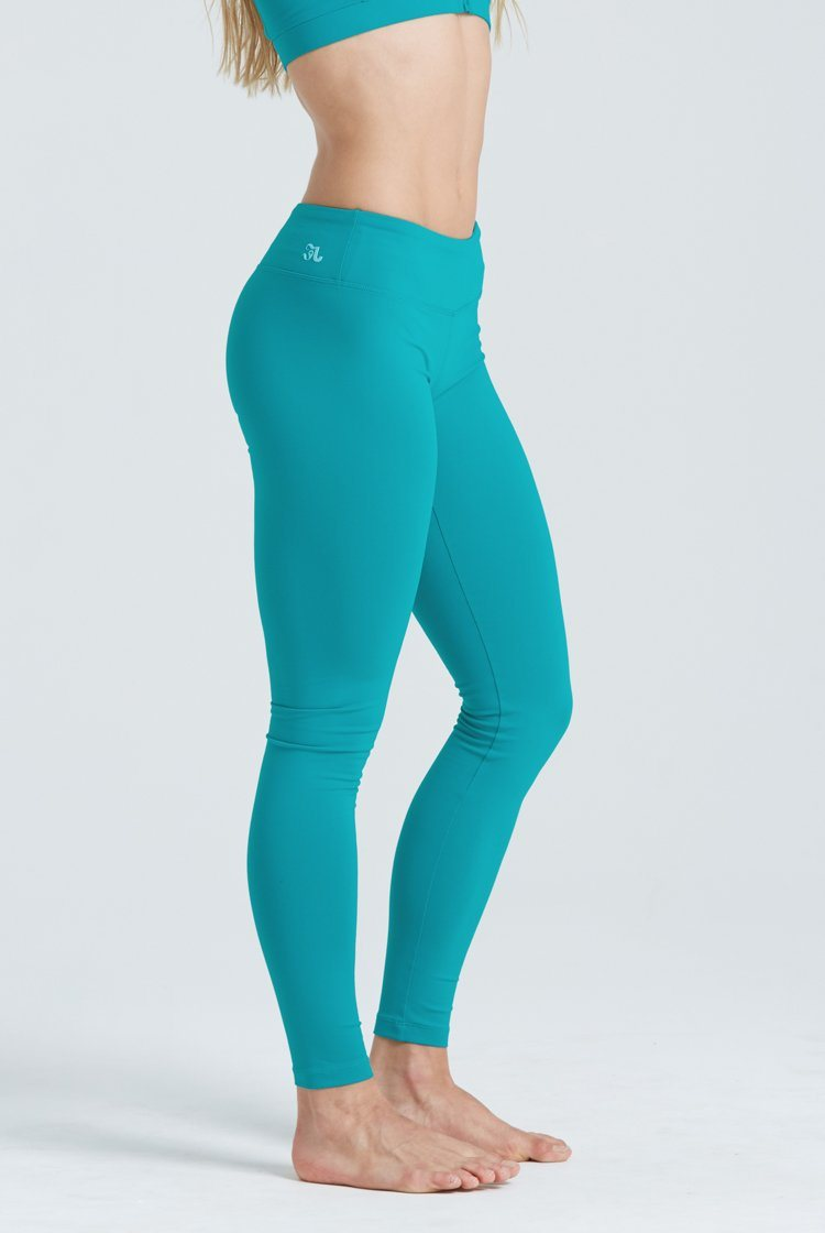 Go To Legging Fitted Wear - Bottoms - Leggings KH Jade Green Medium Adult