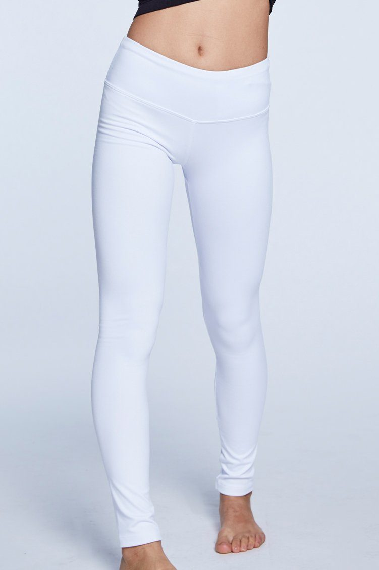 Go To Leggings Fitted Wear - Bottoms - Leggings Jo+Jax White Youth Medium
