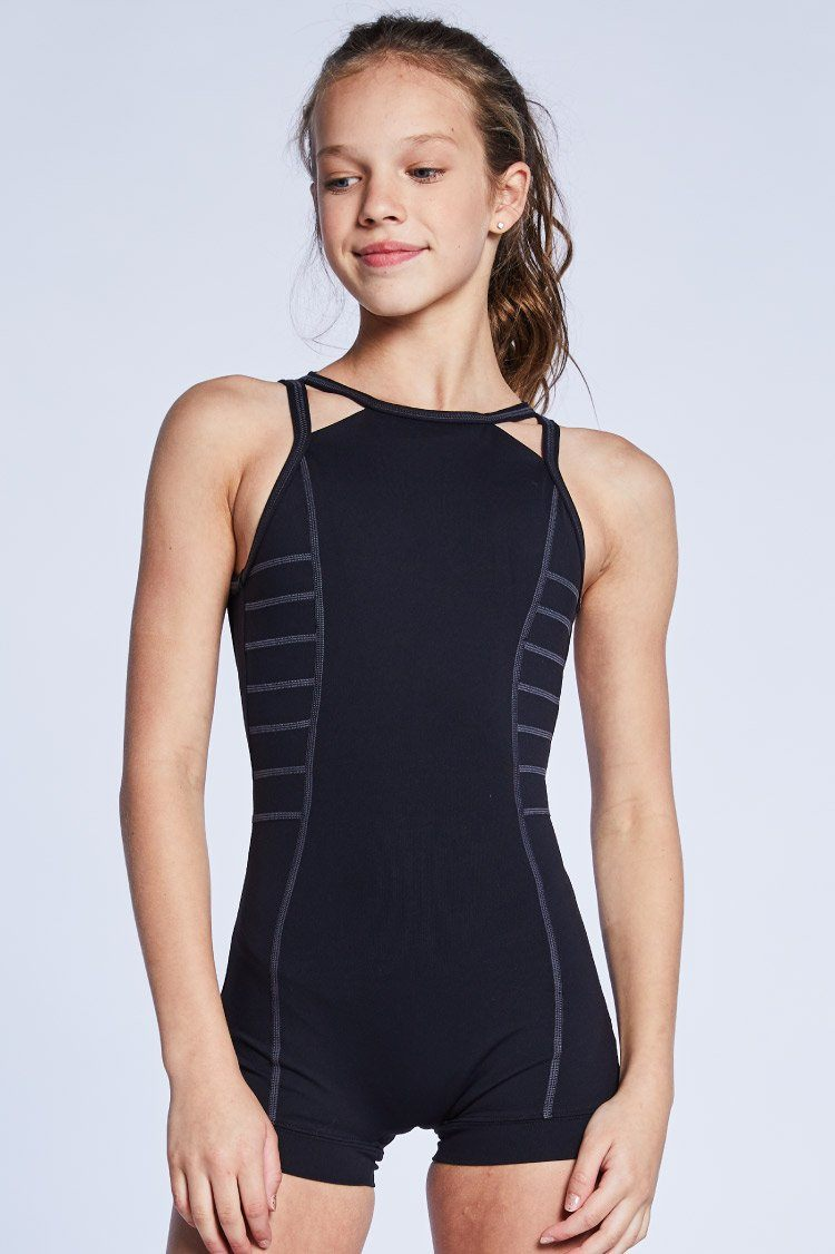 Harley Unitard Fitted Wear - One Pieces - Unitards Jo+Jax Black X-Small Adult