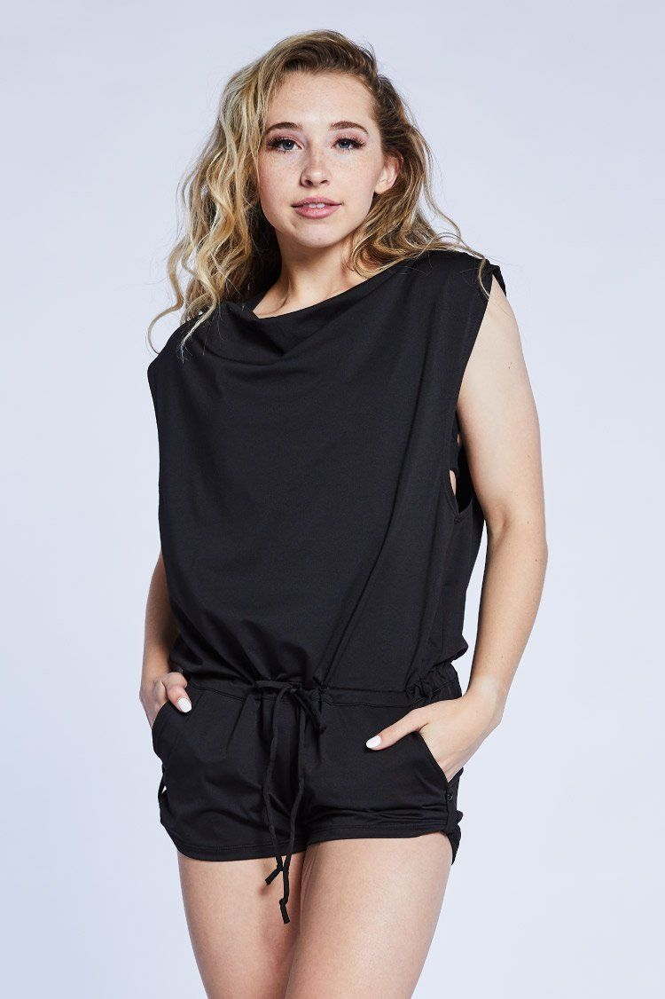 Olympia Romper To & From - Onesies Jo+Jax Black XX-Small Adult