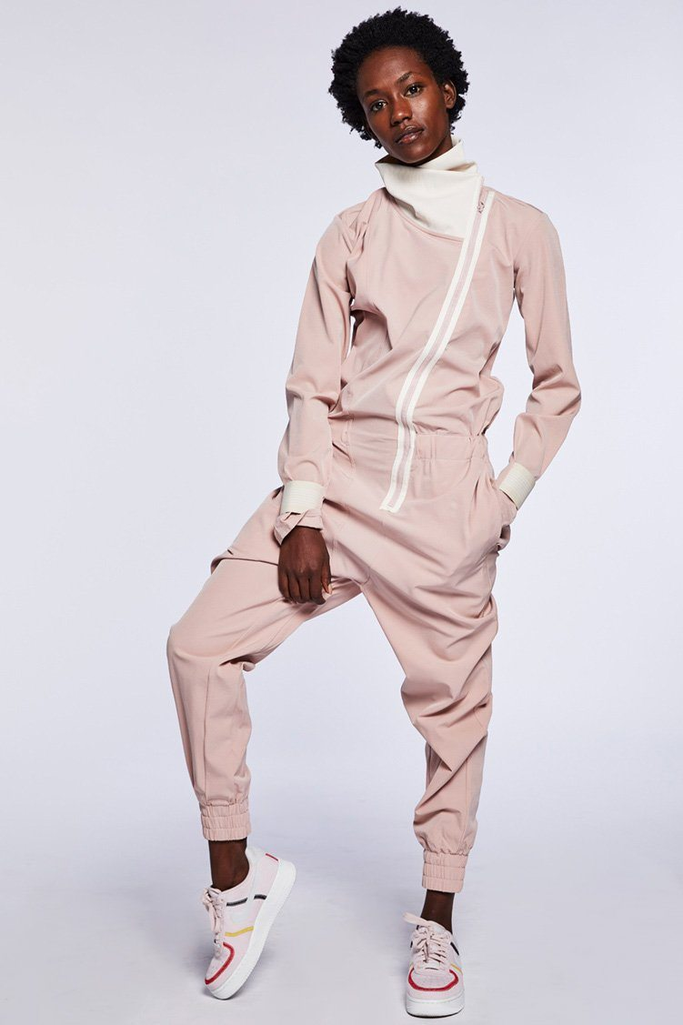 Para Jumpsuit To & From - One Pieces - Unitards Jo+Jax Pink Sand/Cream XX-Small Adult