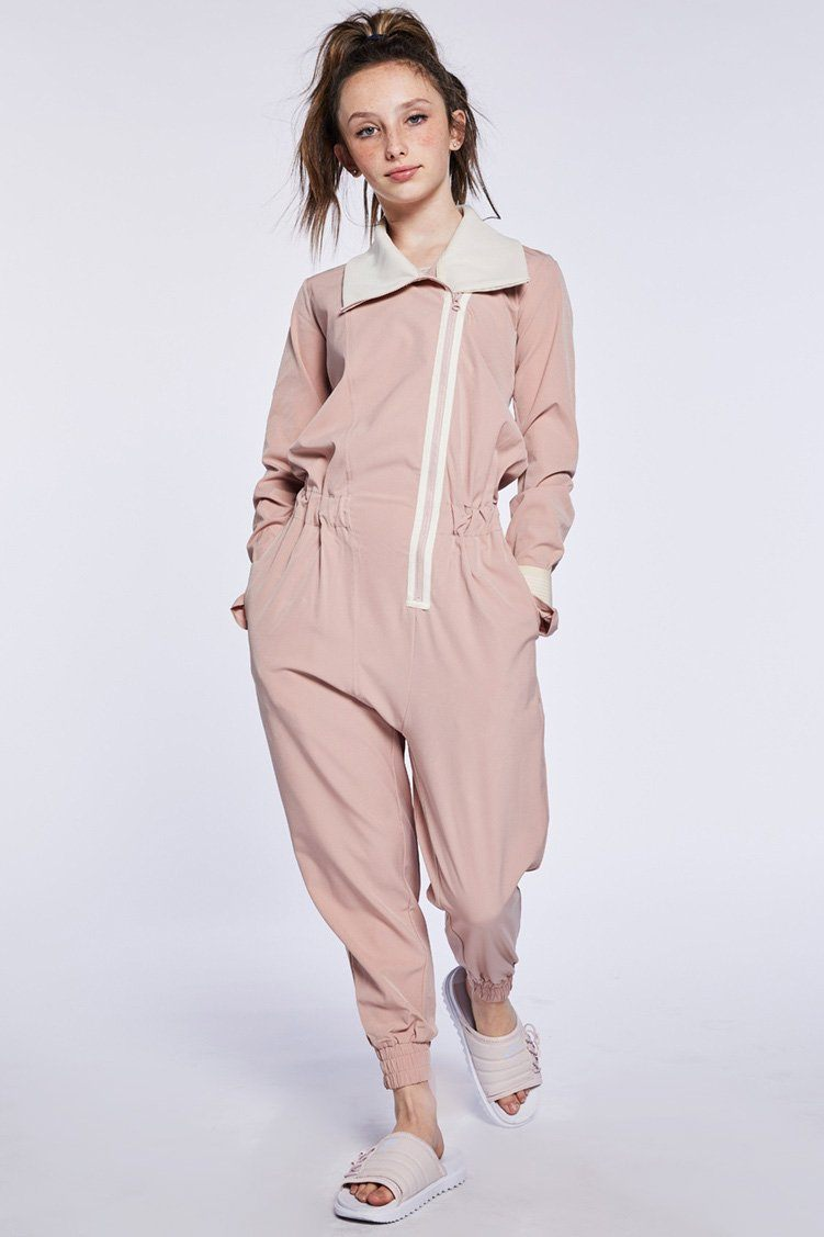 Para Jumpsuit To & From - One Pieces - Unitards Jo+Jax Pink Sand/Cream Youth Small
