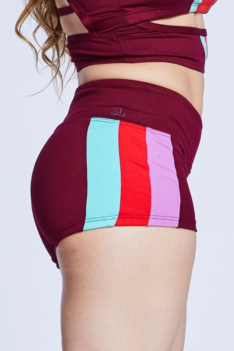 Petra Shorts Fitted Wear - Bottoms - Shorts Jo+Jax Crimson X-Small Adult