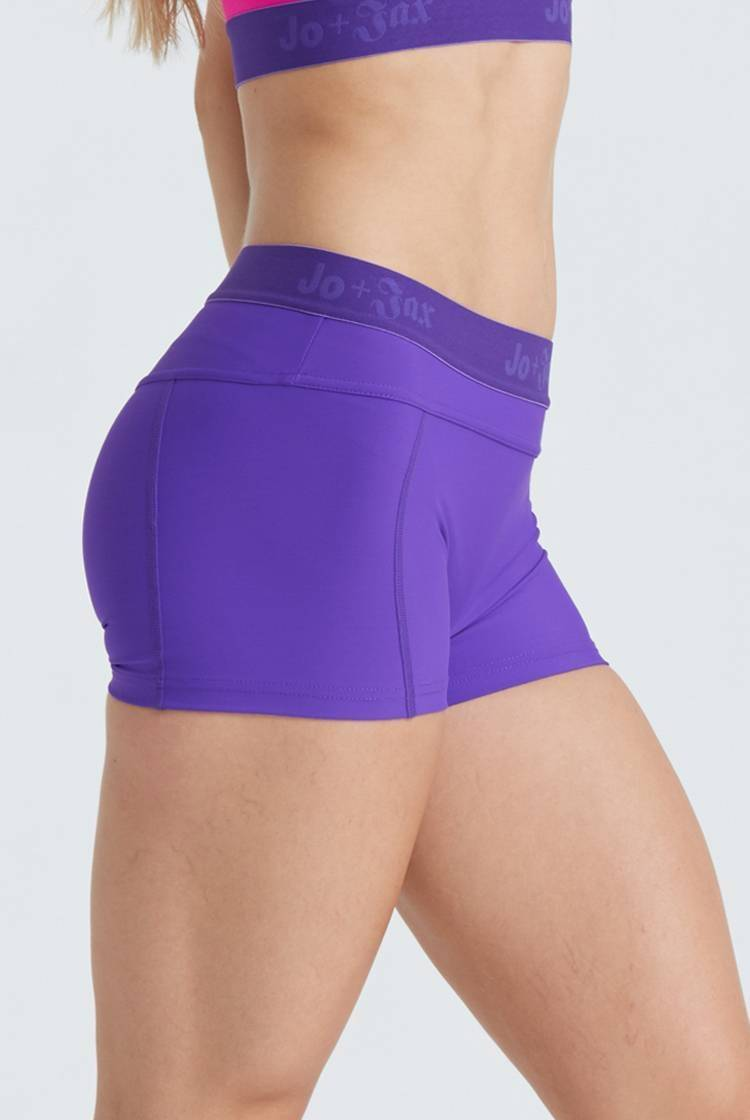 Pro Shorts Fitted Wear - Bottoms - Shorts Jo+Jax Violet X-Small Adult