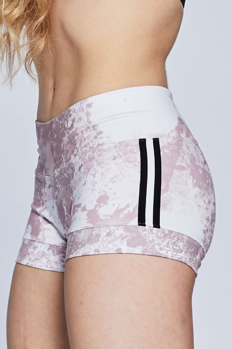 Racer Bandit Shorts Fitted Wear - Bottoms - Shorts Jo+Jax Pink Champagne/ White Stripe XX-Small Adult