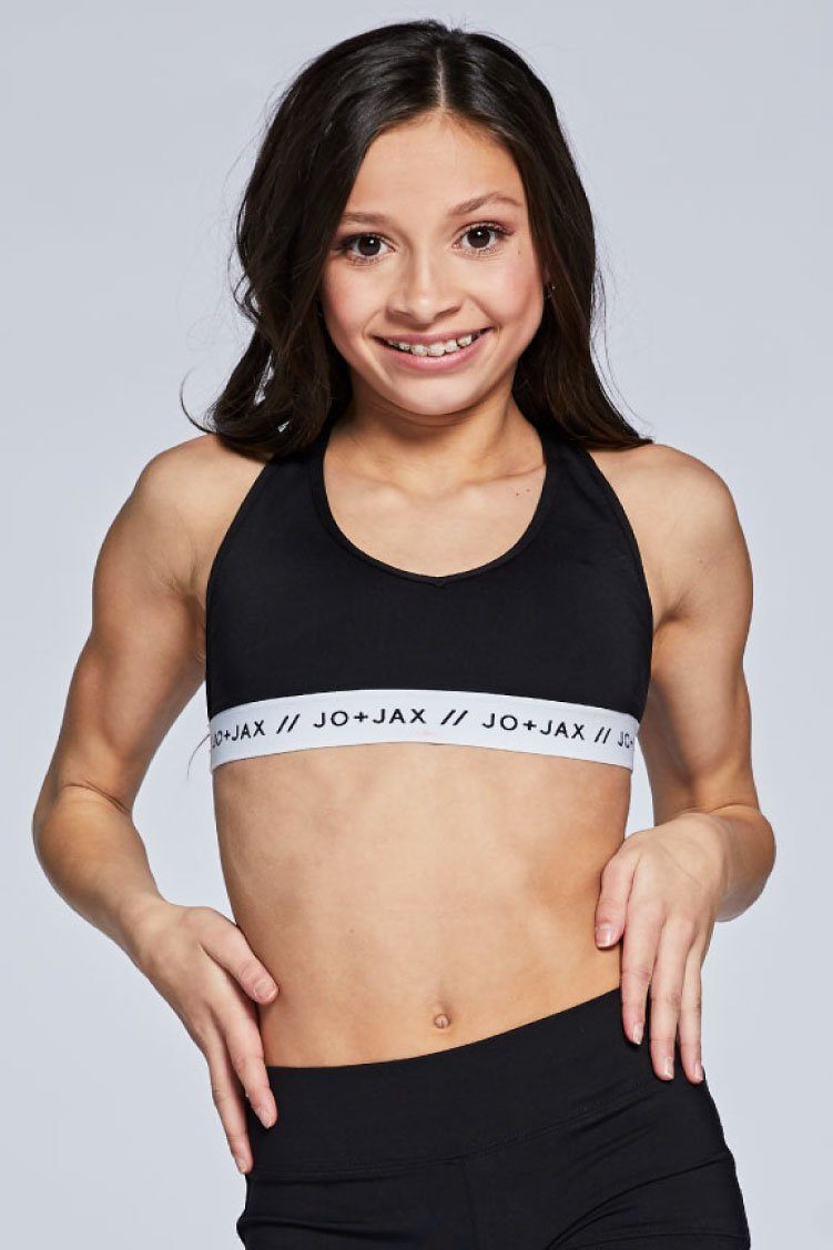 Racer Tri-Top Fitted Wear - Tops - Bra Tops KH Black/ White Branded Youth Small