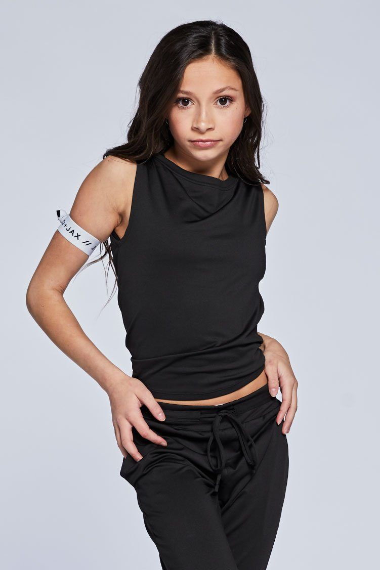 Spectra Muscle Tee To & From - Tops - Tanks Jo+Jax Black Youth Small