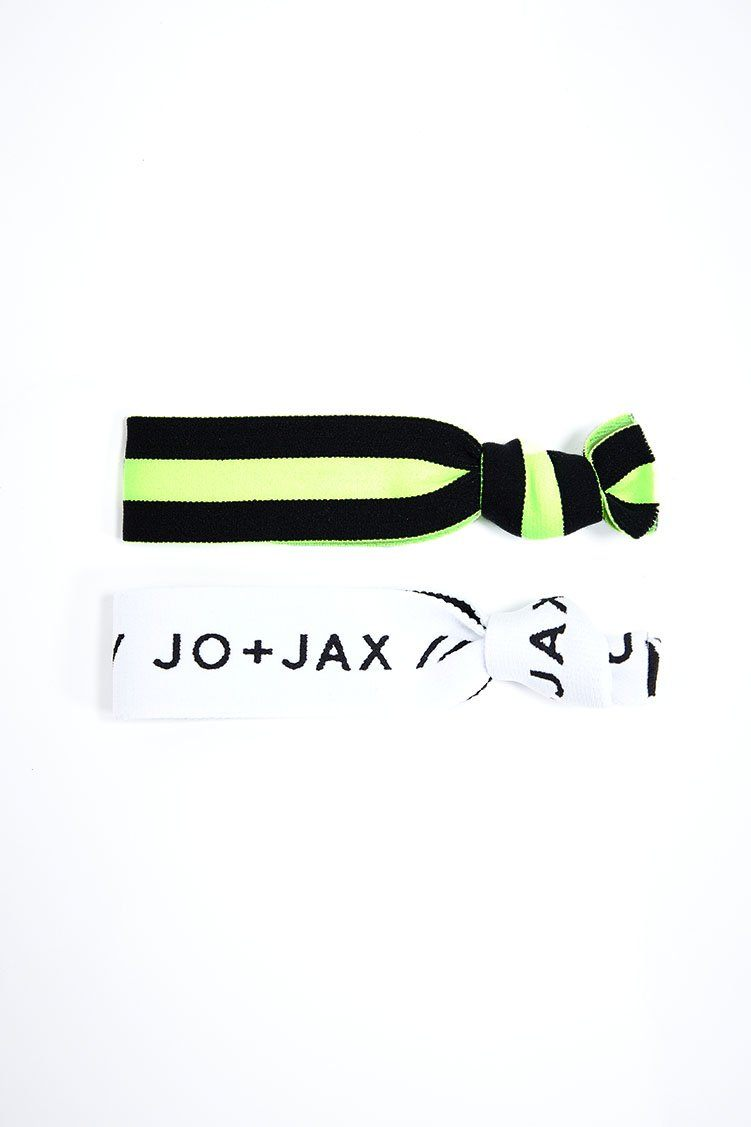 Top Notch Hair-Tie 2-Pack Accessories - Wearables - Headbands Jo+Jax Lime Stripe/White Branded (Pack B) One Size
