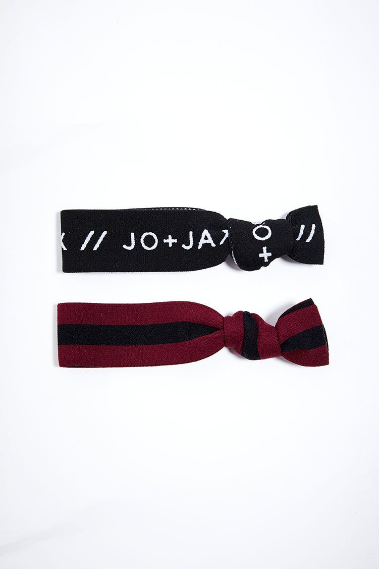 Top Notch Hair-Tie 2-Pack Accessories - Wearables - Headbands Jo+Jax Scarlet Stripe/Black Branded (Pack A) One Size