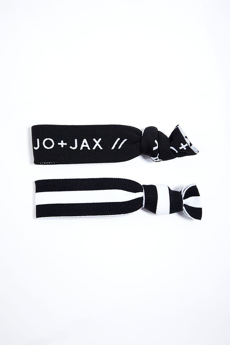 Top Notch Hair-Tie 2-Pack Accessories - Wearables - Headbands Jo+Jax White Stripe/Black Branded (Pack C) One Size