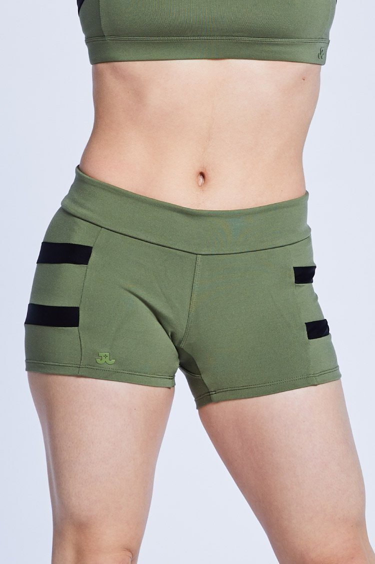 Trax Shorts Fitted Wear - Bottoms - Shorts Jo+Jax Army/Black Large Adult