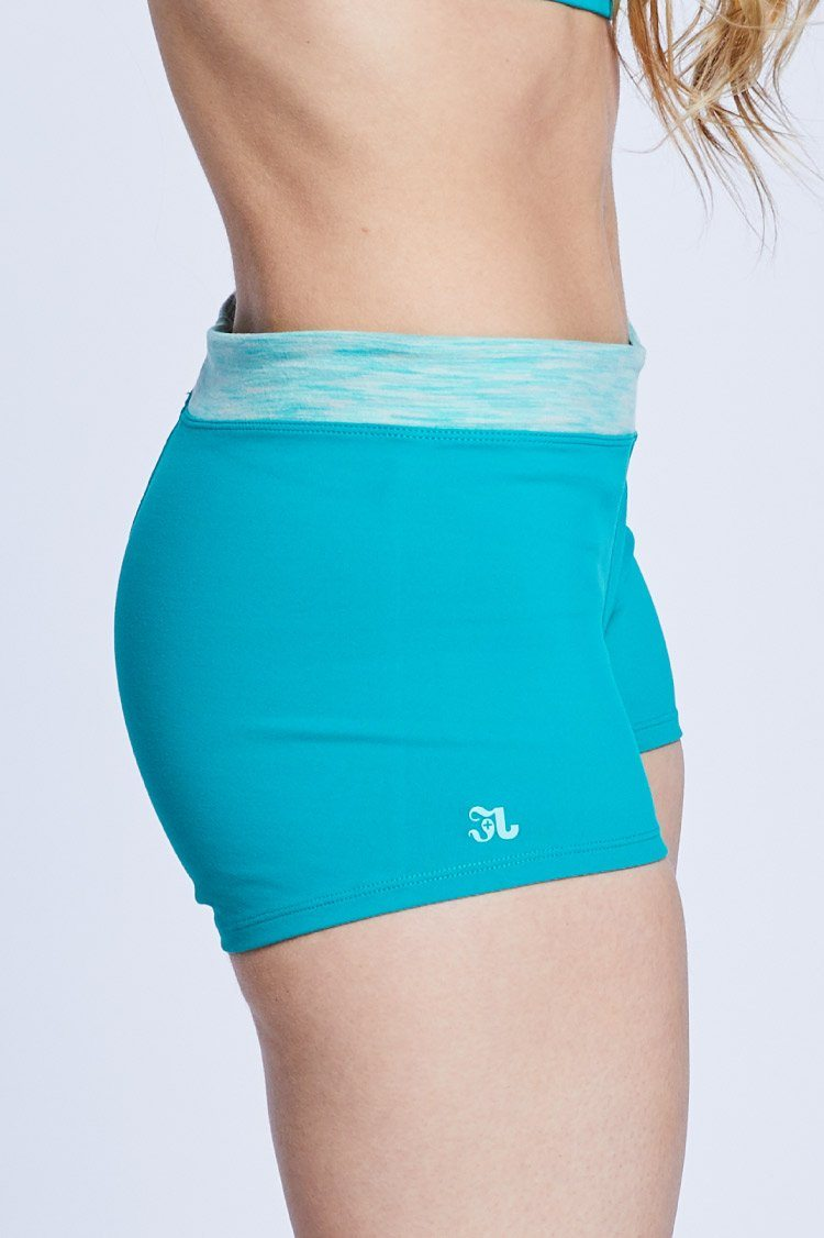 Two Tone Shorties Fitted Wear - Bottoms - Shorts BT Jade Green/Green Space Dye X-Small Adult