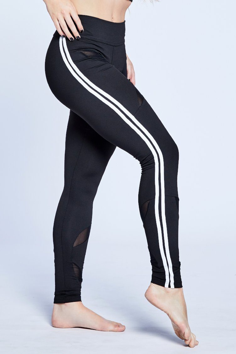 Victory Leggings Fitted Wear - Bottoms - Leggings Jo+Jax Black/White XX-Small Adult