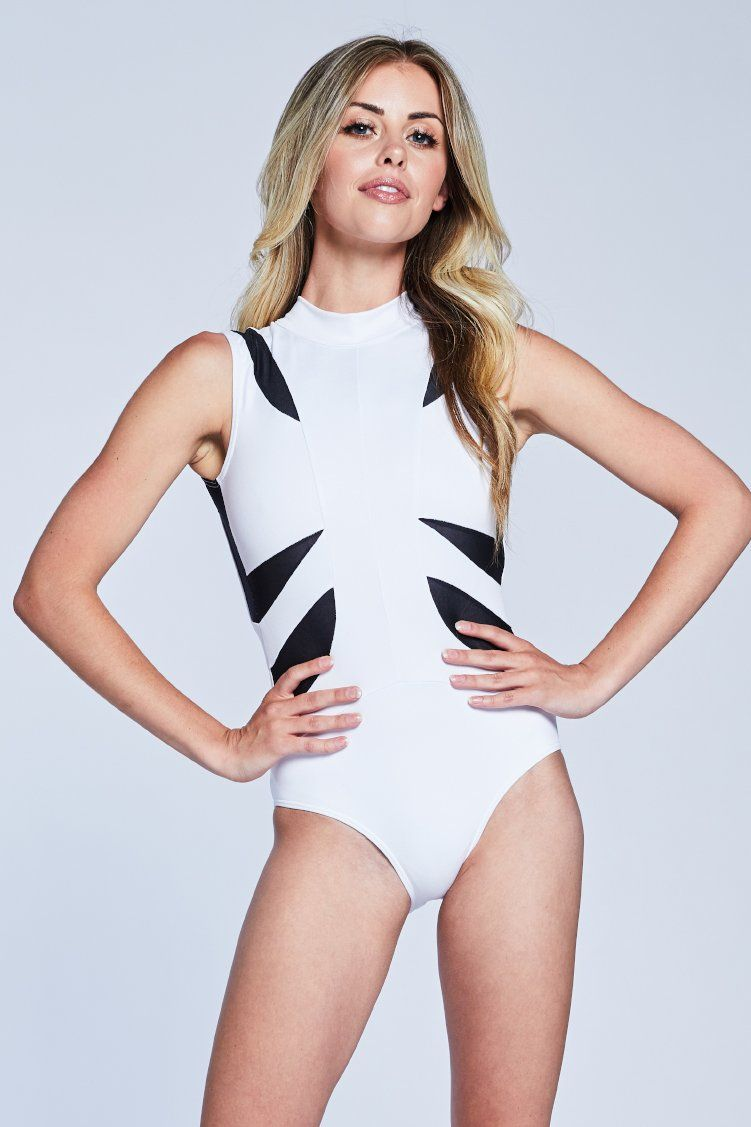 Victory Leo Fitted Wear - One Pieces - Leotards Jo+Jax White/Black XX-Small Adult