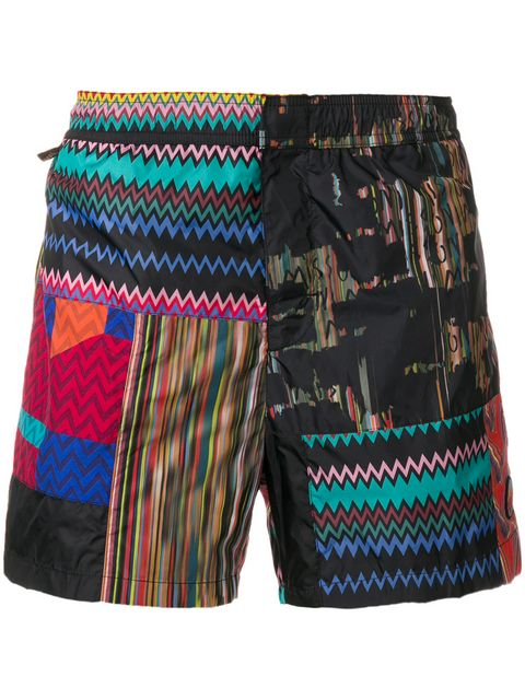 Multi Black Pattern Missoni Shorts